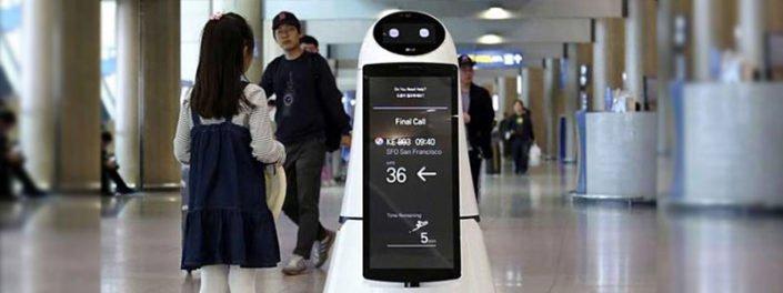 آغاز به کار ربات های ال جی در فرودگاه اینچئون کره