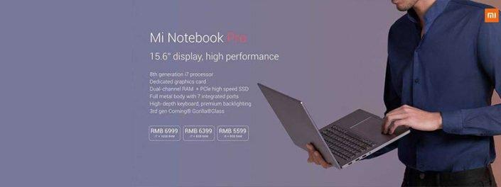 معرفی لپ تاپ mi notebook pro شیائومی