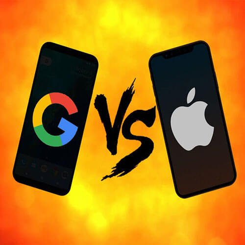google vs iphone